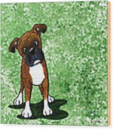 Befuddled Brindle Boxer Wood Print