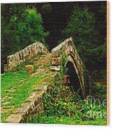 Beggars Bridge In Glaisdale North Yorkshire Wood Print
