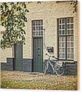 Begijnhof Bicycle Wood Print