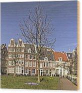 Begijnhof Medieval Courtyard Of Beguines In Amsterdam The Nethe Wood Print