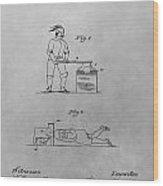 Beheading Block And Axe Wood Print