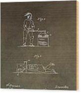 Beheading Block Patent Wood Print