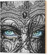 Behind Blue Eyes Wood Print by Mo T