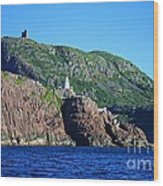 Behind Fort Amherst Rock By Barbara Griffin Wood Print