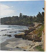 Behind The 18th At Pebble Beach Wood Print