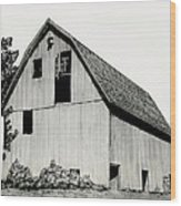 Behind The Barn Wood Print by Todd Spaur