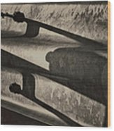 Behind The Barrier Wood Print by Odd Jeppesen