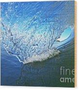 Behind The Blue Curtain Wood Print