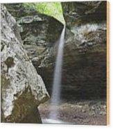 Behind The Boulders Wood Print
