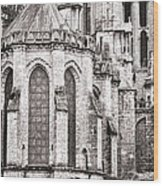 Behind The Cathedral Wood Print
