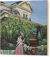 Behind The Garden Gate Wood Print by Linda Simon