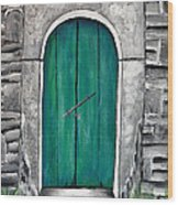 Behind The Green Door Wood Print
