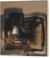 Behind The Lens  Wood Print