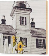 Behind The Lighthouse  Wood Print