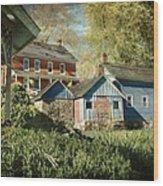 Behind The Smokehouse Wood Print