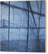 Behind The Veil - New York City Wood Print