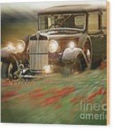 Behind The Wheel Wood Print by Edmund Nagele