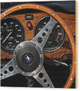 Behind The Wheel Wood Print by Odd Jeppesen