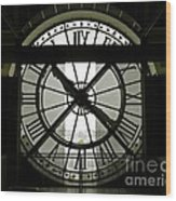 Behind Time Wood Print