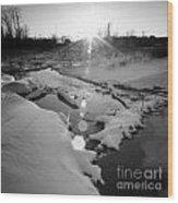Behind Vancher Davidge Park Wood Print