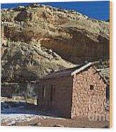Behunin Cabin Capitol Reef National Park Utah Wood Print