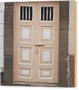 Beige Double Doors Wood Print