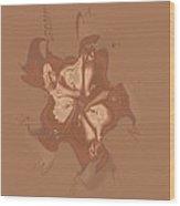 Beige Satin Morning Glory Wood Print