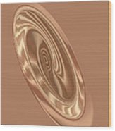 Beige Satin Oval 1 Wood Print