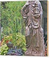 Beiger Mansion Statue Wood Print