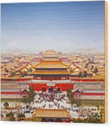 Beijing Forbidden City Skyline Wood Print by Colin and Linda McKie