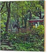 Beijing Gardens Wood Print