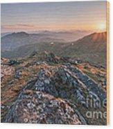 Sunset From Beinn Ghlas - Scotland Wood Print