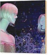 Bejeweled Blondes Wood Print