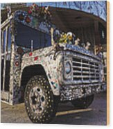 Bejeweled Bus Wood Print