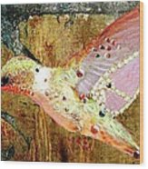 Bejeweled Hummingbird Wood Print
