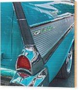 Bel Air Tail Fin Wood Print