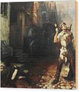 Belgian Ferdinand Pauwels The Plague In Ypres Wood Print