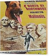 Belgian Malinois Art Canvas Print - North By Northwest Movie Poster Wood Print