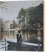 Belgium Reflections In Water Wood Print