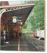 Belgrave Train Station Wood Print