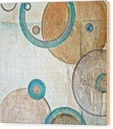 Belief In Circles Wood Print by Debi Starr