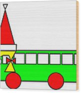 Belinda The Bus Wishes You A Merry Christmas Wood Print