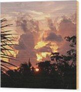 Belizean Sunset Wood Print