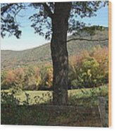 Belknap Mountain Wood Print