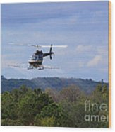 Bell 206 Helicopter Wood Print