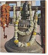 Bell At The Temple Of The 64 Yoginis - Jabalpur India Wood Print