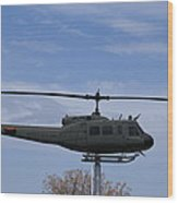 Bell Helicopter Uh-1 Iroquois - Huey Wood Print