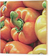 Bell Pepper Stack Wood Print