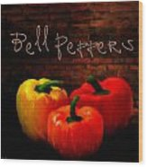 Bell Peppers II Wood Print