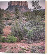 Bell Rock At Dusk Wood Print
